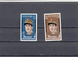 Nueva Hebrides Nº 304 Al 305 - Leyenda Francesa
