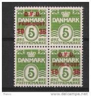 00275 Dänemark Yvert 267 Z + 267 Aa 2 Zusammenhängend Im Viererblock ** K-Wert 18,-  Eur - 1913-47 (Christian X)