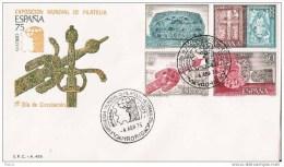 00332 Sobre Primer Dia Con Los Sellos Sueltos De La HB EXPO 75 - 1931-Hoy: 2ª República - ... Juan Carlos I