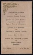 MENU 1903 ( Format 15 X 7 ) Tour Blanche - - Menus