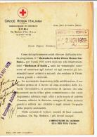 """DE116-1922 CROCE ROSSA ITALIANA DOCUMENTO Su CALENDARIO Per L'ANNO 1923 Su""""BELLEZZE D'ITALIA""""-FIRMA Commissario SCORZE' - Historische Dokumente"""