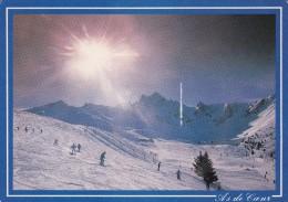 Cp , SPORT , SPORT D´HIVER , Descente à Ski Sous L'éclat Du Soleil - Sports D'hiver
