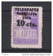 00503 AYUNTAMIENTO BARCELONA TELEGRAFOS EDIFIL 17 ** CAT. 24,- EUR - Barcelona