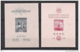 00529 Tschechoslowakei Yvert Block 10 - 11 ** - Checoslovaquia