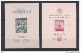 00529 Tschechoslowakei Yvert Block 10 - 11 ** - Unclassified