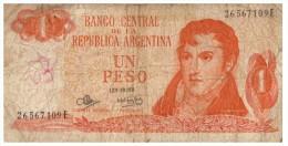 ARGENTINE, UN PESO, 26567109E /33 - Argentinien