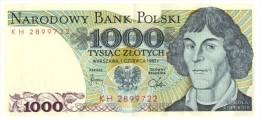 POLOGNE 1000 ZLOTYCH 1982  KH 2899722 /33 - Pologne