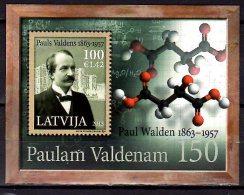 2013 Latvia / Lettland -150 Years Of Paul Walden Birthday - Chemist - MS  -  Paper MNH** - Lettland