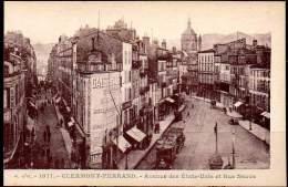 CLERMONT-FERRAND Ca 1910 Avenue Des États-Unis Et Rue Neuve. Carte Edit. J.Gouttefangeas # 1071 - Clermont Ferrand