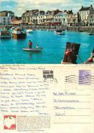 Harbour, Ilfracombe, Devon, England Postcard Posted 1982 Stamp John Hinde #1 - Ilfracombe