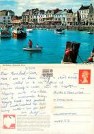 Harbour, Ilfracombe, Devon, England Postcard Posted 1989 Stamp John Hinde #2 - Ilfracombe