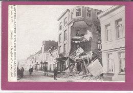 ANVERS .- L' EFFET  D' UN GROS OBUS ALLEMAND - War 1914-18