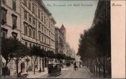 ! Old  Postcard Roma, Straßenbahnen, Tram, Tranvia, Lazio, Italien, Italy, Italia - Transports