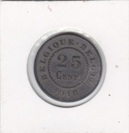25 Centimes Zinc Albert I 1918 FR/FL - 1909-1934: Albert I