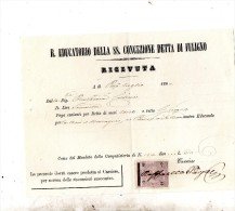 1869 R. EDUCATORIO DELLA SS. CONCEZIONE DETTA   DI FULIGNO - Italia