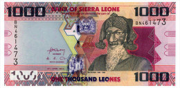 SIERRA LEONE 1000 LEONES 2010 Pick 30 Unc - Sierra Leone