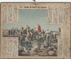 Format 21 X 26,7 Cm/ Almanach Des P Et T/Zouave /Corvée D'eau En Oasis/ Eure/ 1915    CAL140 - Calendriers