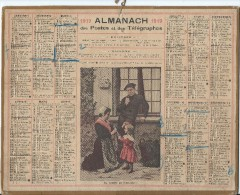 Format 21 X 26,7 Cm/ Almanach Des P Et T/La Toilette Du Dimanche /Eure/ 1919    CAL142 - Calendriers