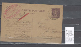 Lettre Cachet  Ambulant Luxembourg à Strasbourg 1   -Alsace -L -indice 8 - Postmark Collection (Covers)