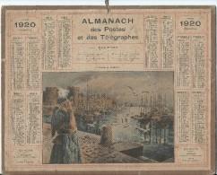 Format 21 X 26,7 Cm/ Almanach Des P Et T/Goëlands Et Goëlettes /Eure/ 1920    CAL143 - Calendars