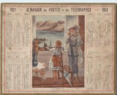 Format 21 X 26,7 Cm/ Almanach Des P Et T/Par La Fenêtre Ouverte  /Eure/ 1921    CAL144 - Calendriers