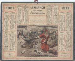 Format 21 X 26,7 Cm/ Almanach Des P Et T/Une Panique Au Marché  /Eure/ 1921    CAL145 - Calendars