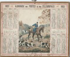 Format 21 X 26,7 Cm/ Almanach Des P Et T/Chasse à Courre / En Défaut /Eure/ 1923    CAL146 - Calendars