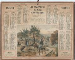 Format 21 X 26,7 Cm/ Almanach Des P Et T/La Triolette ( Basse Normandie) /Eure/ 1923    CAL147 - Calendars