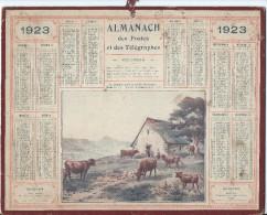 Format 21 X 26,7 Cm/ Almanach Des P Et T/La Rentrée Pour La Traitef/Eure/ 1923    CAL149 - Calendriers