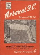 15/4/1950 - ARSENAL F.C. - NEWCASTLE UNITED - Programme Officiel - Photos - Compositions Des équipes - Etc.. - Apparel, Souvenirs & Other