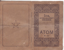 "Libretto Istruzioni X Macchina Fotografica Ica ""Atom""-Dresda-Germania-Booklet X Kamera Ica ""Atom""-Dresden-Deutschland - Catalogues"
