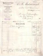 PARIS - PAPETERIES DE L'EPINE A. & R. MALMENAYDE -  RELEVE + MANDAT - 1924 - Imprimerie & Papeterie