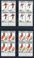 LIBERIA 1995 Mi # 1639 A - 1642 A  SOCCER  BLOCK Of 4 SV 68 EURO MNH - Liberia