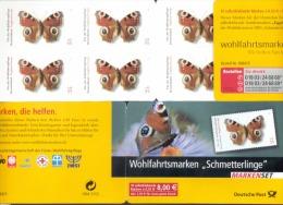 Markenheftchen Bund Postfr. MH 60 Schmetterlinge / Butterflies  MNH ** - BRD