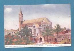Zanzibar Christ Church Cathedral  UNUSED ART DRAWN OLD POSTCARD MISSIONERY - Tanzania