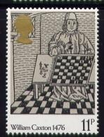 Echecs Caxton Timbre Neuf  Angleterre 1976  Y:805 Cote/value:2€ Chess Stamp MNH  England - Echecs