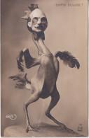 Politique , Enfin éclos, Coq Humanisé Avec Monocle - Edmond Rostand -  GIRIS - Satiriques