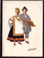 LATVIA 1957 Postcard National Costumes #1735 - Latvia