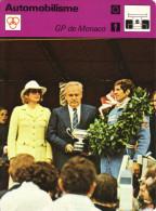 Fiche  -  Automobilisme  -  Grand Prix/F1  -  Monaco GP  -  Jody Scheckter Couronné En 1977 - Cars