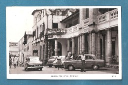 RP TANZANIA ZANZIBAR GENERAL POST OFFICE  OLD CARS  TAXI USED WITH TWO STAMPS - Tanzanie