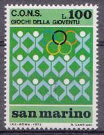 Saint-Marin Mi.nr.:1028 Jugendsportspiele 1973 Neuf Sans Charniere / Mnh / Postfris - Neufs