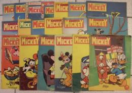 19 N° Du Journal De Mickey. 1955-1956. Entre N° 187 Et 242. Donald, Petite Annie, Pluto, Dingo.. - Journal De Mickey