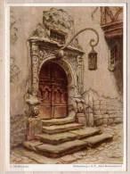 L. Mößler Pinx. , Rothenburg O.d.T. , Altes Rathausportal - Malerei & Gemälde