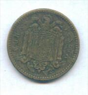 F3517 / - 1 Peseta - 1947 ( 51 ) - Spain Espana Spanien Espagne - Coins Munzen Monnaies Monete - [ 5] 1949-… : Kingdom
