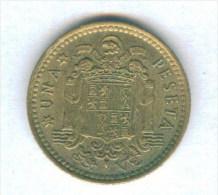 F3520 / - 1 Peseta - 1966 ( 74 ) - Spain Espana Spanien Espagne - Coins Munzen Monnaies Monete - [ 5] 1949-… : Kingdom