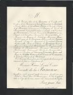 Annonce Décés/ Henri Louis César Vicomte De La Panouse/ 80 Ans/ Paris/ 1893      FPD1 - Décès