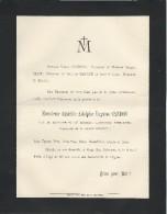Annonce Décés/ Amédée Adolphe Eugéne CANDON/ Chef De Bataillon 96éme RTI/60ans/Paris/1894  FPD3 - Décès