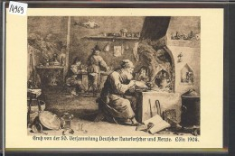 KÖLN - OFFIZIELLE FEST-POSTKARTE DER 80. VERSAMMLUNG DEUTSCHER NATURFORSCHER UND AERZTE 1908 - TB - Koeln