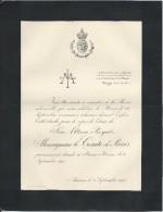 Annonce Messe/Son Altesse Royale Monseigneur Le Comte De Paris /Stowe House/1894   FPD6 - Décès