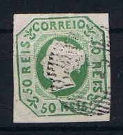 Portugal 1853 Mi 3a Used  Double Signed Signed/ Signé/signiert/ Approvato Small Thin Spot